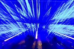 Luz - fundo abstrato azul Fotos de Stock