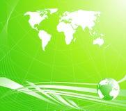 Luz - fundo abstrato verde com um globo Fotografia de Stock