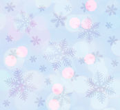 Luz - fundo azul do Natal Foto de Stock