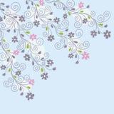 Luz - fundo floral azul Foto de Stock Royalty Free
