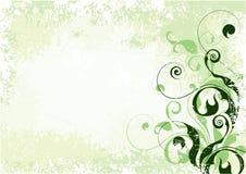 Luz - fundo floral verde