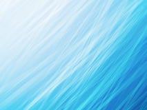 Luz - fundo listrado da onda da água azul Fotografia de Stock