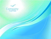 Luz - fundo ondulado azul. Fotos de Stock