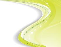 Luz - fundo verde Foto de Stock