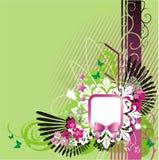 Luz - fundo verde com frame ilustração royalty free