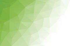 Luz geométrica do triângulo abstrato - fundo verde, ilustração do vetor Projeto poligonal Fotos de Stock