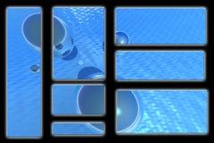 Luz - globos azuis Fotos de Stock