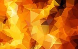 Luz - ilustração poligonal alaranjada, que consistem em triângulos Imagem de Stock Royalty Free