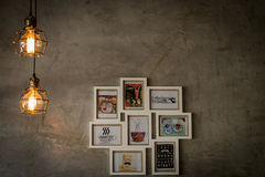 Luz interior, cafetería Foto de archivo libre de regalías