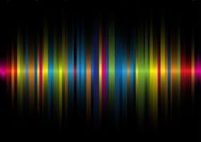 Luz iridiscente en un background2 negro Imagen de archivo