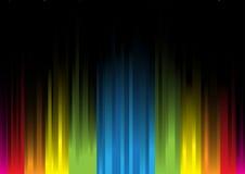 Luz iridiscente en un background3 negro Imágenes de archivo libres de regalías