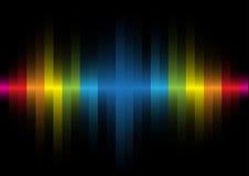 Luz iridiscente en un fondo negro Imagen de archivo libre de regalías