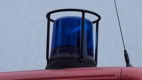Luz 4k del camión de los bomberos almacen de metraje de vídeo