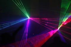Luz laser fotos de archivo