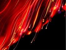 Luz laser del arco iris ondulado Fotografía de archivo