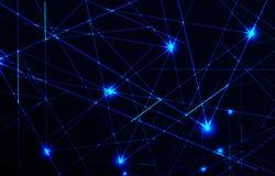 Luz laser del vector Fotos de archivo libres de regalías