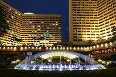 Luz llevada en oficina constructiva comercial moderna del hotel fotos de archivo libres de regalías