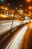 Luz longa na estrada Imagem de Stock Royalty Free