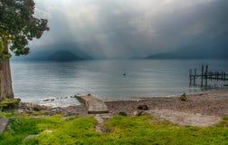 Luz mágica, lago Como Fotos de archivo