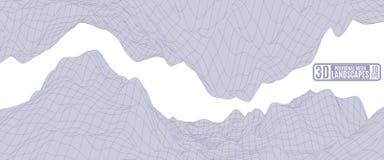 Luz - montanhas roxas em um fundo branco para anunciar Fotografia de Stock