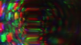 Luz multicolora, ruido del pixel, viejo concepto de la pantalla Escapes cubiertos, ligeros metrajes