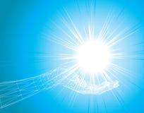Luz na mão Imagens de Stock