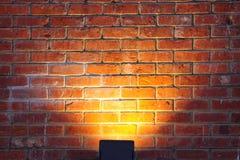 Luz na parede Fotos de Stock Royalty Free