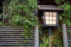 Luz no bambu Foto de Stock
