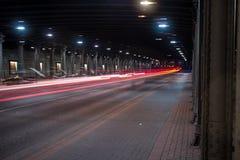 Luz no túnel Foto de Stock Royalty Free