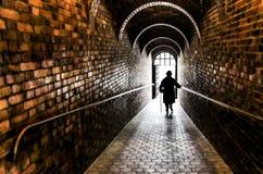 Luz no túnel fotos de stock royalty free