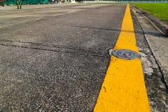 Luz no taxiway Imagens de Stock