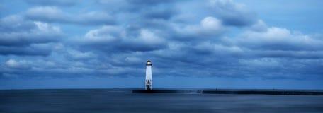 Luz norte do quebra-mar de Frankfort foto de stock