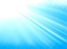 Luz - o azul irradia o fundo Imagens de Stock Royalty Free