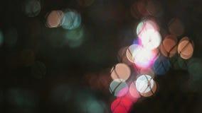 Luz obscura do c?rculo colorido abstrato da luz de rua para o fundo vídeos de arquivo