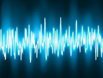 Luz oscilante del resplandor de las ondas acústicas. EPS 8 ilustración del vector