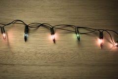 Luz para o vintage do Natal Fotografia de Stock Royalty Free