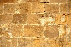 Luz - parede de pedra marrom Fotos de Stock Royalty Free