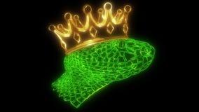 Luz peçonhento da animação do laser da serpente de Copperhead ilustração royalty free