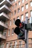 Luz pedestre vermelha foto de stock royalty free