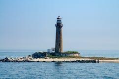 Luz pequena da ilha da gaivota imagens de stock