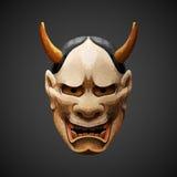 Luz pilota de Hannya de la máscara del teatro polivinílico bajo de Noh Imagen de archivo libre de regalías