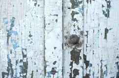 Luz pintada de madeira velha - fundo rústico azul, casca da pintura Fotografia de Stock