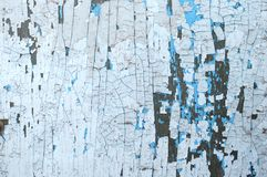 Luz pintada de madeira velha - fundo rústico azul, casca da pintura Fotos de Stock Royalty Free