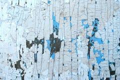 Luz pintada de madeira velha - fundo rústico azul, casca da pintura Fotografia de Stock Royalty Free