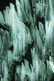 A luz polarizada faz o gleam dos cristais fotos de stock
