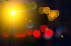 luz positiva radiante del espacio Fotos de archivo libres de regalías