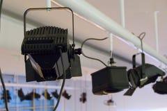 Luz preta da fase em um apoio da construção de aço Imagens de Stock Royalty Free