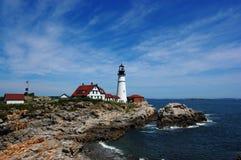 Luz principal de Maine - de Portland Foto de archivo