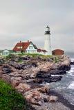 Luz principal de Portland, Maine Fotografía de archivo libre de regalías