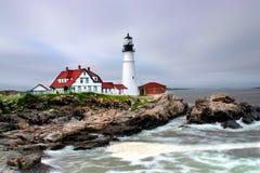 Luz principal de Portland, Maine Foto de archivo